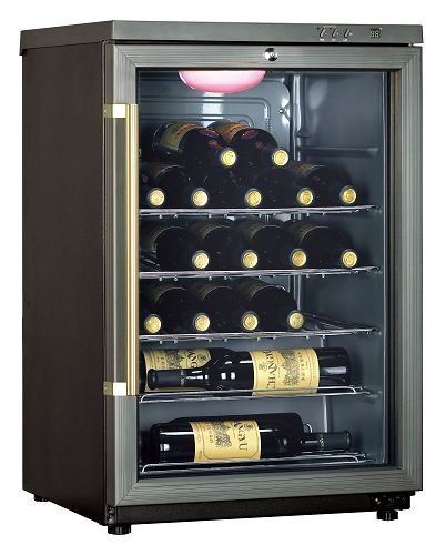 haier海尔 24瓶电子式恒温储酒冰柜/红酒柜(hvf024bbg)