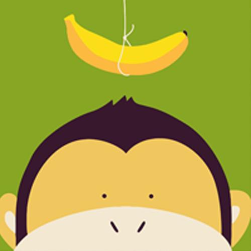 【数数画】diy绘画板20×20cm╱动物连连看-猴子