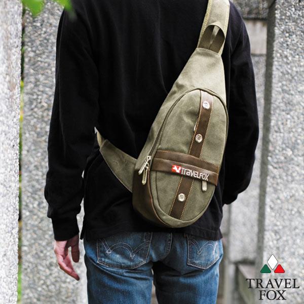 travel fox旅狐十字军单肩斜背包(草绿色)tb346图片