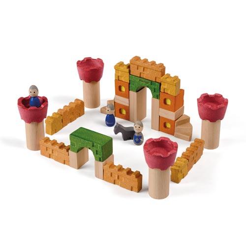 怎样用木头积木搭建城堡步骤图