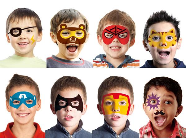 10种酷炫英雄面具与配件,让孩子轻松彩绘成最酷炫的超级英雄,享