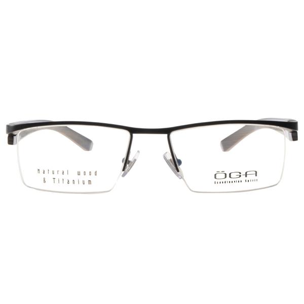 oga眼镜顶级木框/银