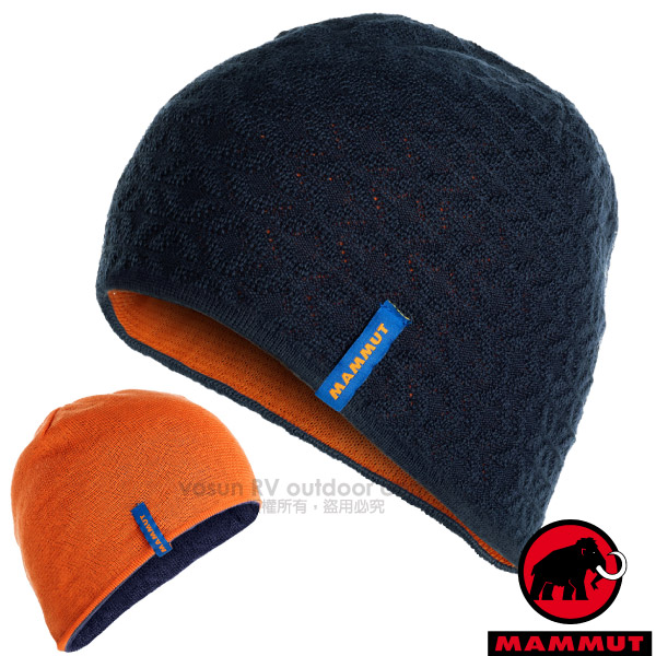 毛线针织帽/05820-5961 夜蓝/日出橙