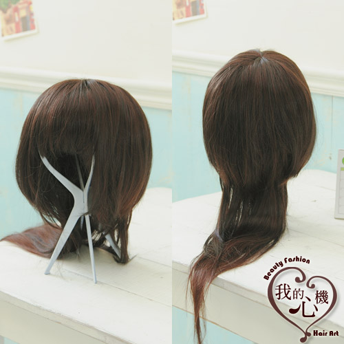 我的心机61可爱教主水母头自然黑超长两用直假发