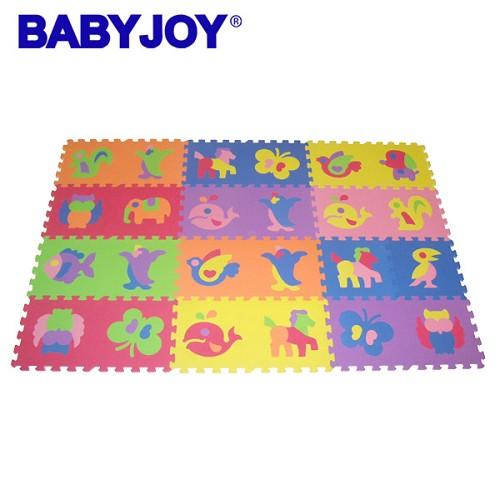 《baby joy》zoo动物安全地垫(26片)