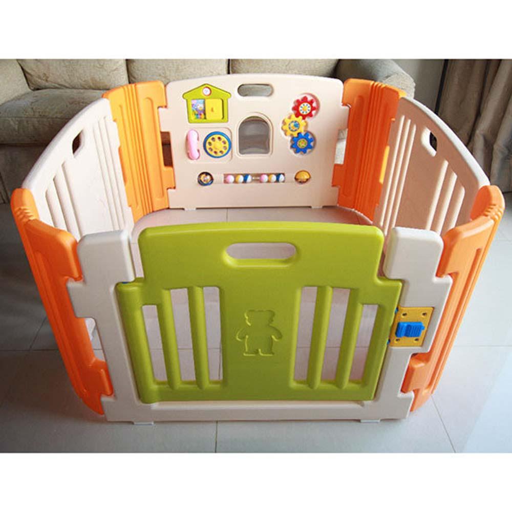 白色嬰兒安全遊戲圍欄HNP-735 韓國製造