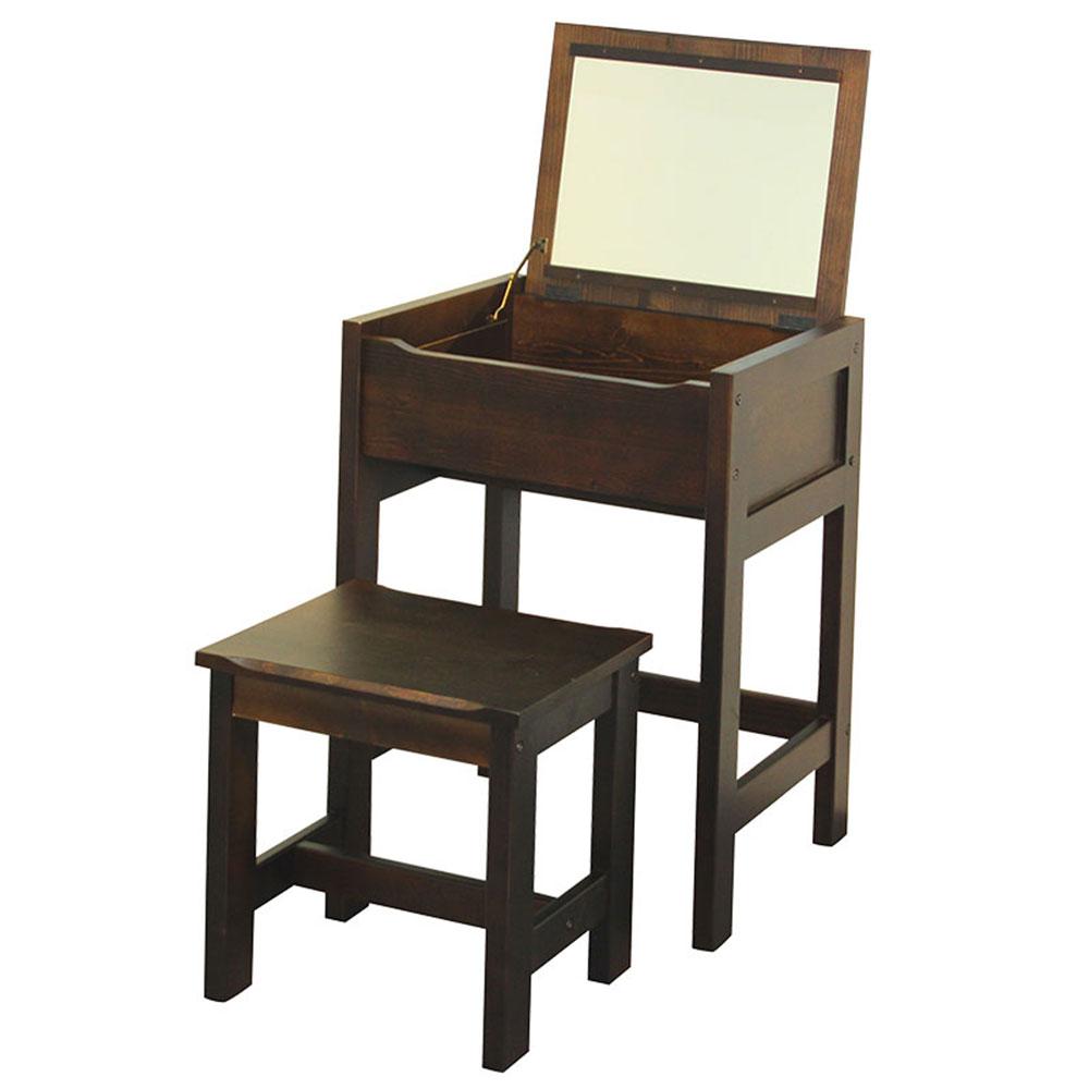 MIT簡約現代 簡約實木化妝鏡桌椅組
