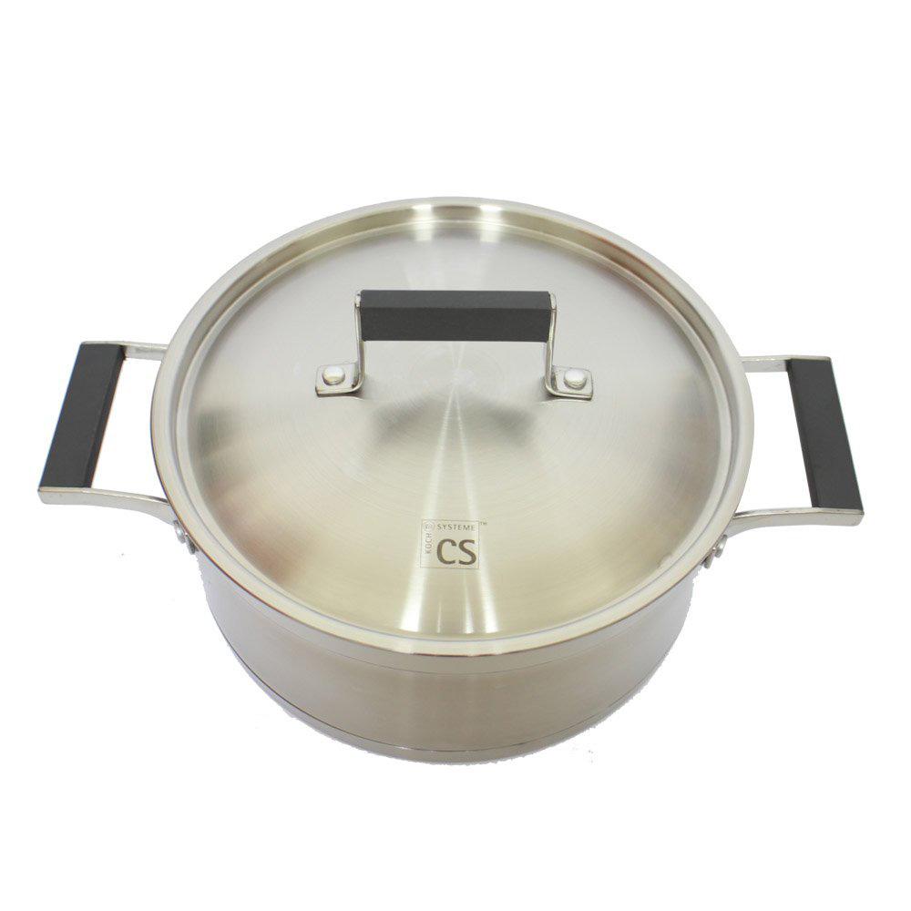 百年德國工藝 CS KOCHSYSTEME 304不鏽鋼湯鍋24cm