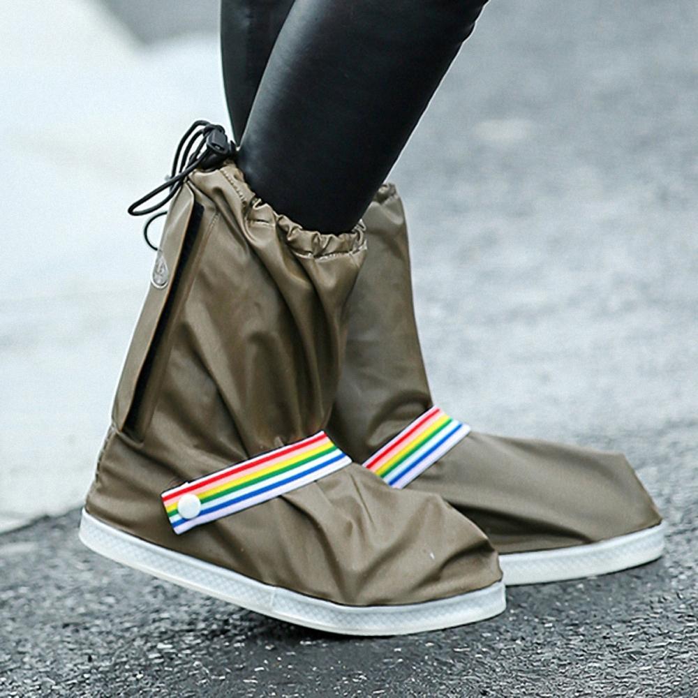 防雨鞋套 长筒 土褐色