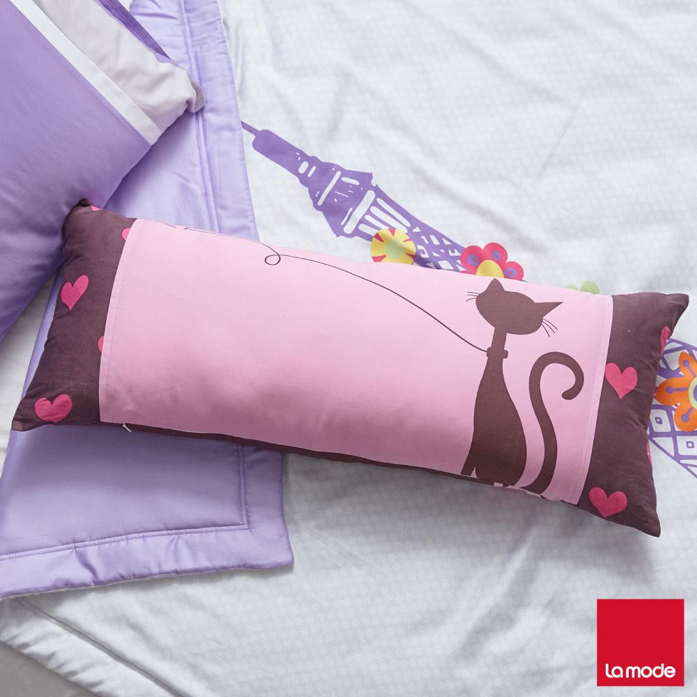 La Mode寢飾 貓咪傳情長抱枕 含枕芯  _含枕芯