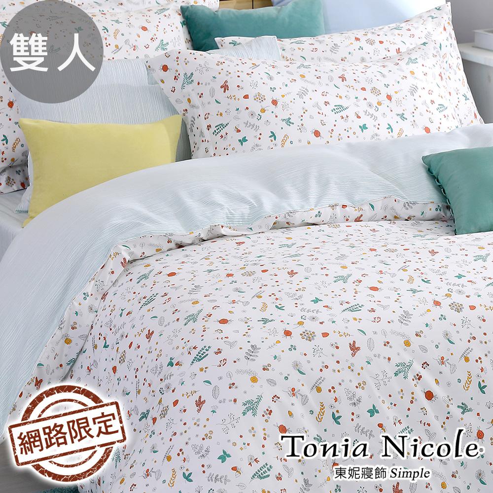 Tonia Nicole東妮寢飾 日映芳好100%精梳棉兩用被床包組(雙人)