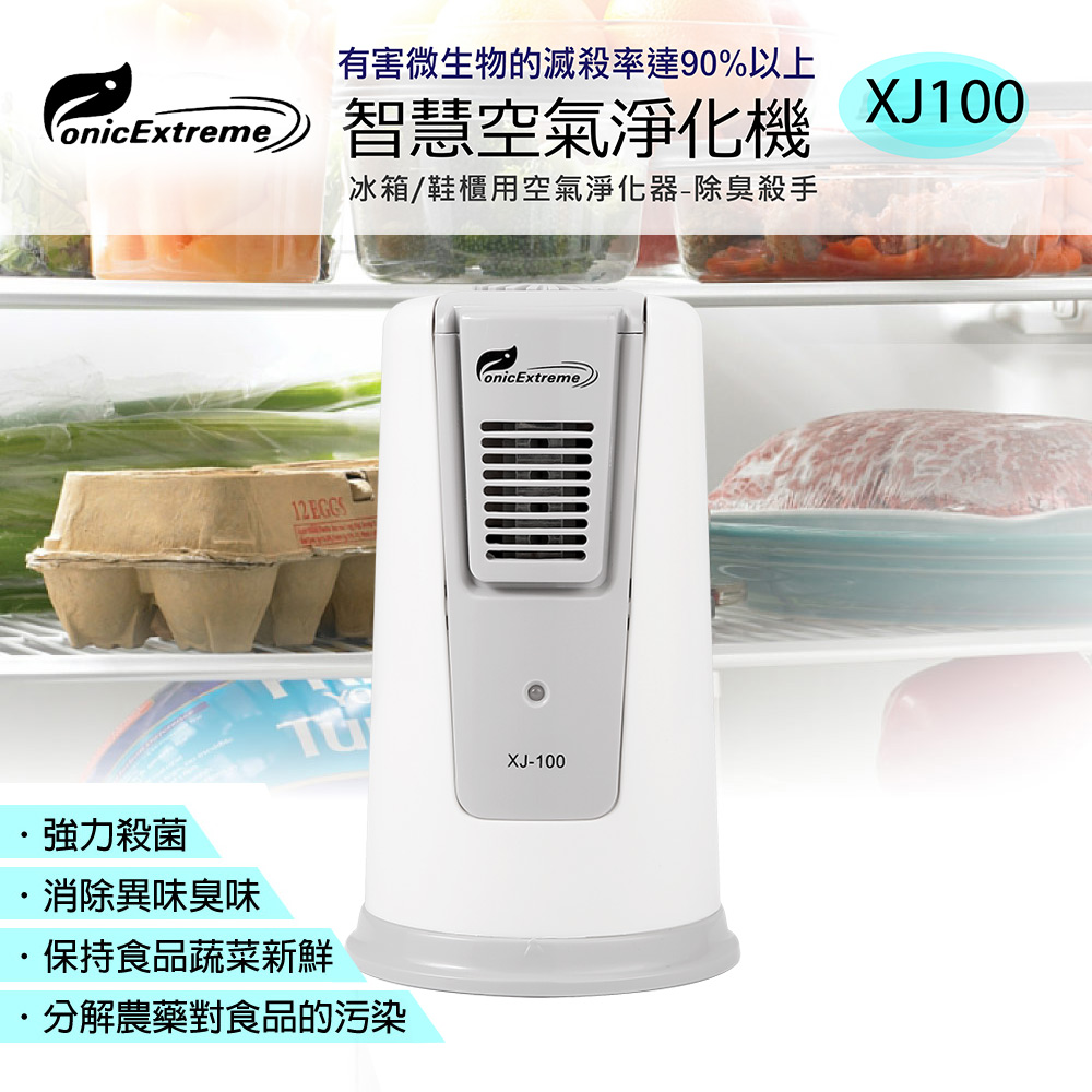Ionic-care 智慧空氣淨化殺菌除臭清淨機(冰箱/鞋櫃專用) XJ-100