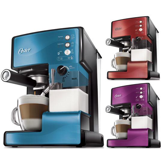 美國OSTER 奶泡大師義式咖啡機 PRO升級版(三色可選)(送磨豆機+Bodum隨行杯)