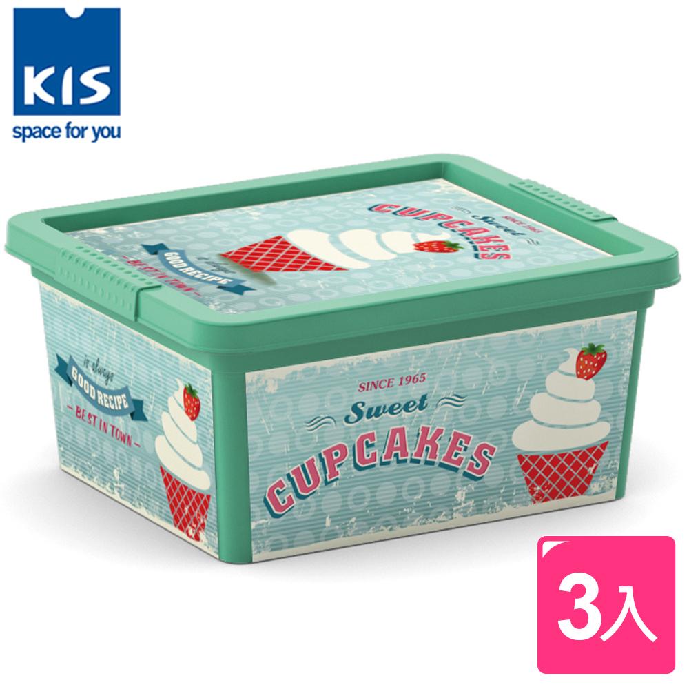 ~開館6折起~義大利KIS CBOX甜點系列收納箱XXS^(霜淇淋^) ^~3入