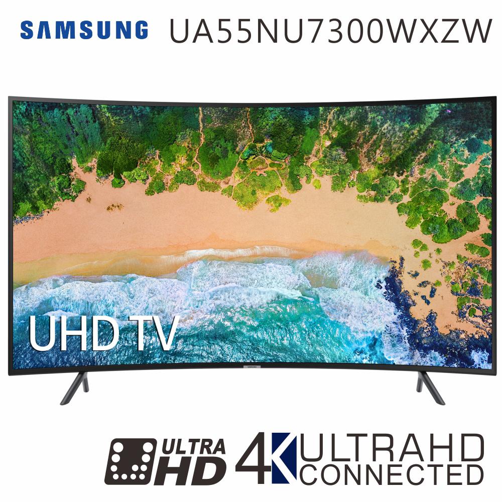 三星 55吋 4K曲面连网液晶电视(UA55NU7300WXZW)*送基本安装+三洋负离子空气清净机+Simlicity蓝芽喇叭