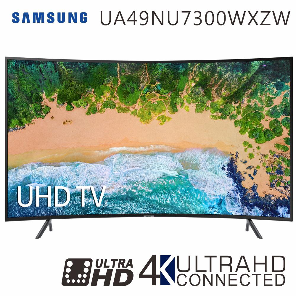 SAMSUNG三星 49吋 4K黄金曲面连网液晶电视(UA49NU7300WXZW)*送基本安装+三洋14吋DC变频遥控电扇