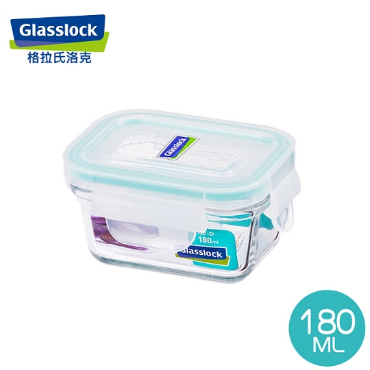 【Glasslock】強化玻璃微波保鮮盒 - 長方形180ml