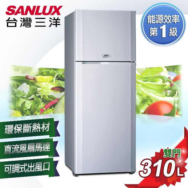 【SANYO台灣三洋】310L雙門冰箱/SR-310B8