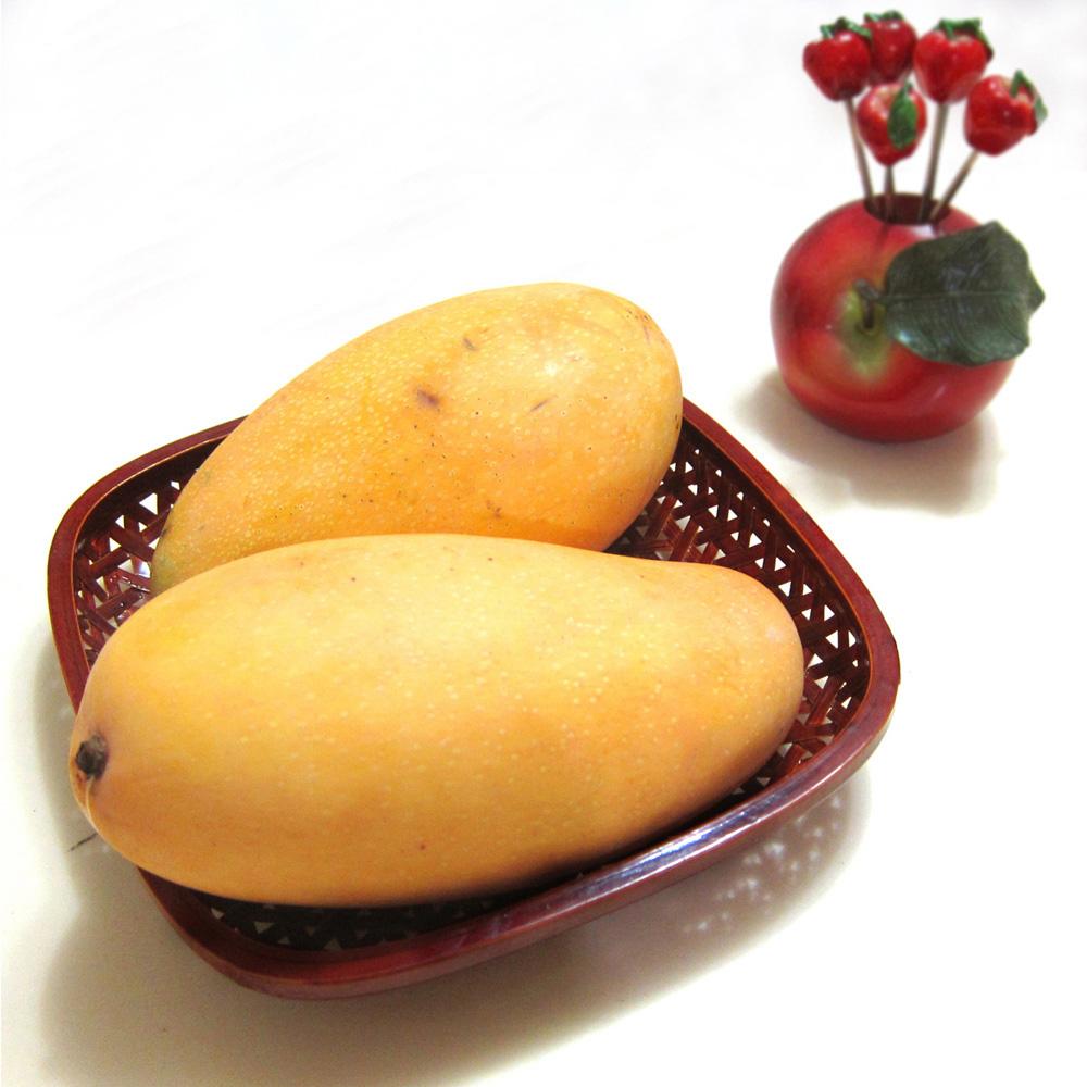 果之家 台灣香甜Q金煌芒果5台斤2箱(約5-7顆)