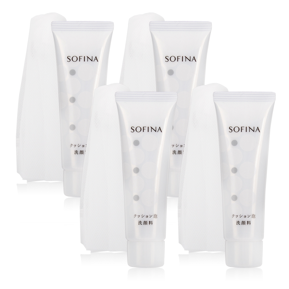 SOFINA 苏菲娜 弹力泡泡洁颜乳-附专用起泡网(30g)X4