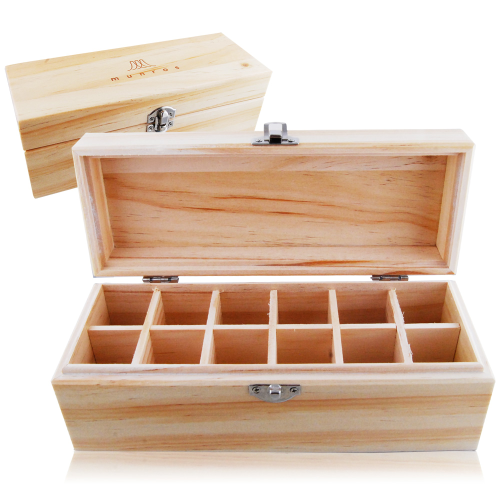 ESCENTS 伊聖詩 精油12格木盒