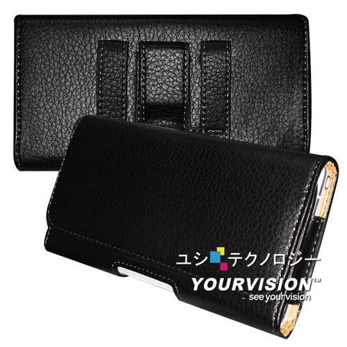Samsung GALAXY Note 4 麗緻紋(腰帶環固定)腰掛磁扣皮套
