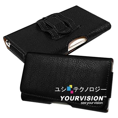 Samsung GALAXY Note 4 麗緻紋(腰帶環有扣)腰掛磁扣皮套