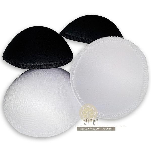 【Airi】(2對4入)全罩式柔織布面包邊胸墊 襯墊 (適用運動內衣 小可愛 泳衣)