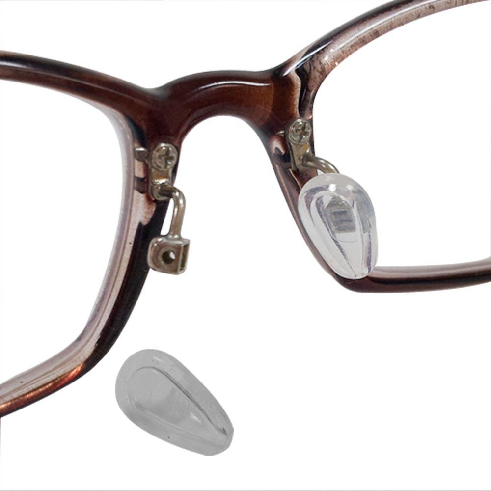 眼鏡專用空力氣浮式鼻墊(三對6入)(贈螺絲起子+鼻墊螺絲)