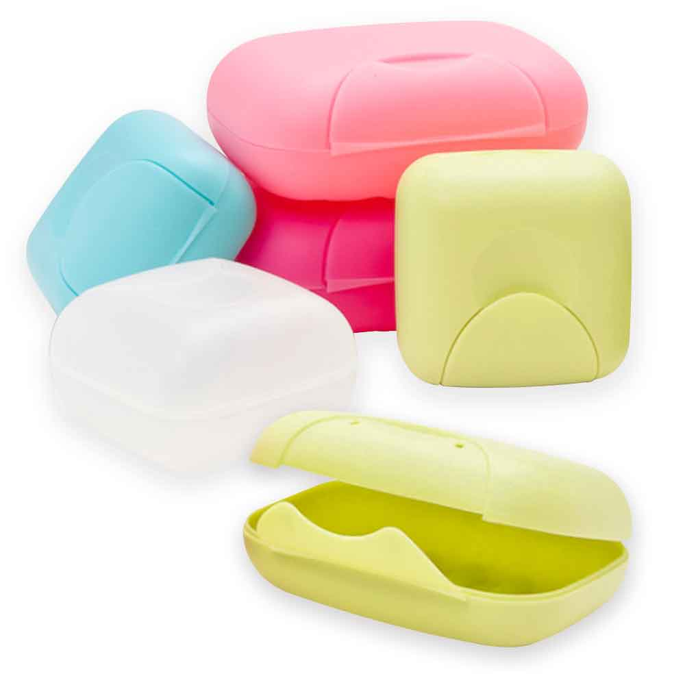 (買大送小) 露營 野餐 旅行肥皂盒 手工皂盒 帶鎖扣肥皂盒 收納盒