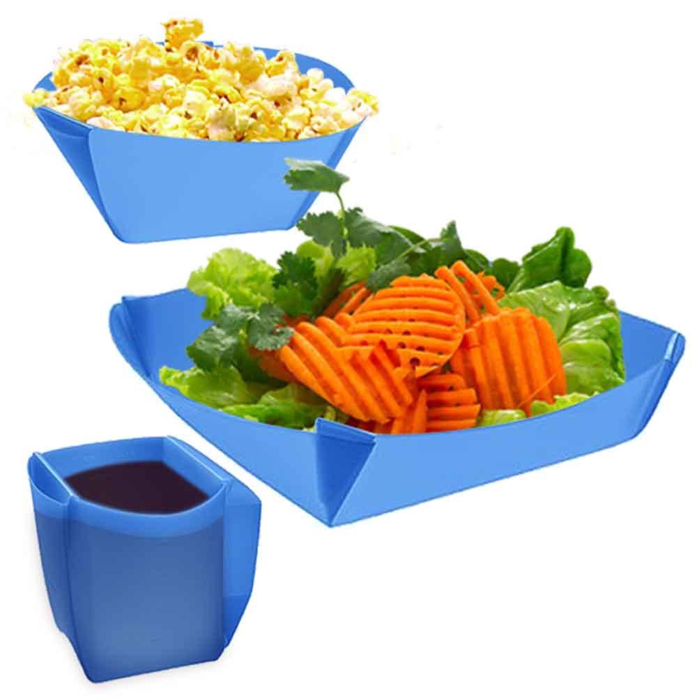 樂活環保餐具 三件式可折疊組合餐具(杯子 碗 盤)