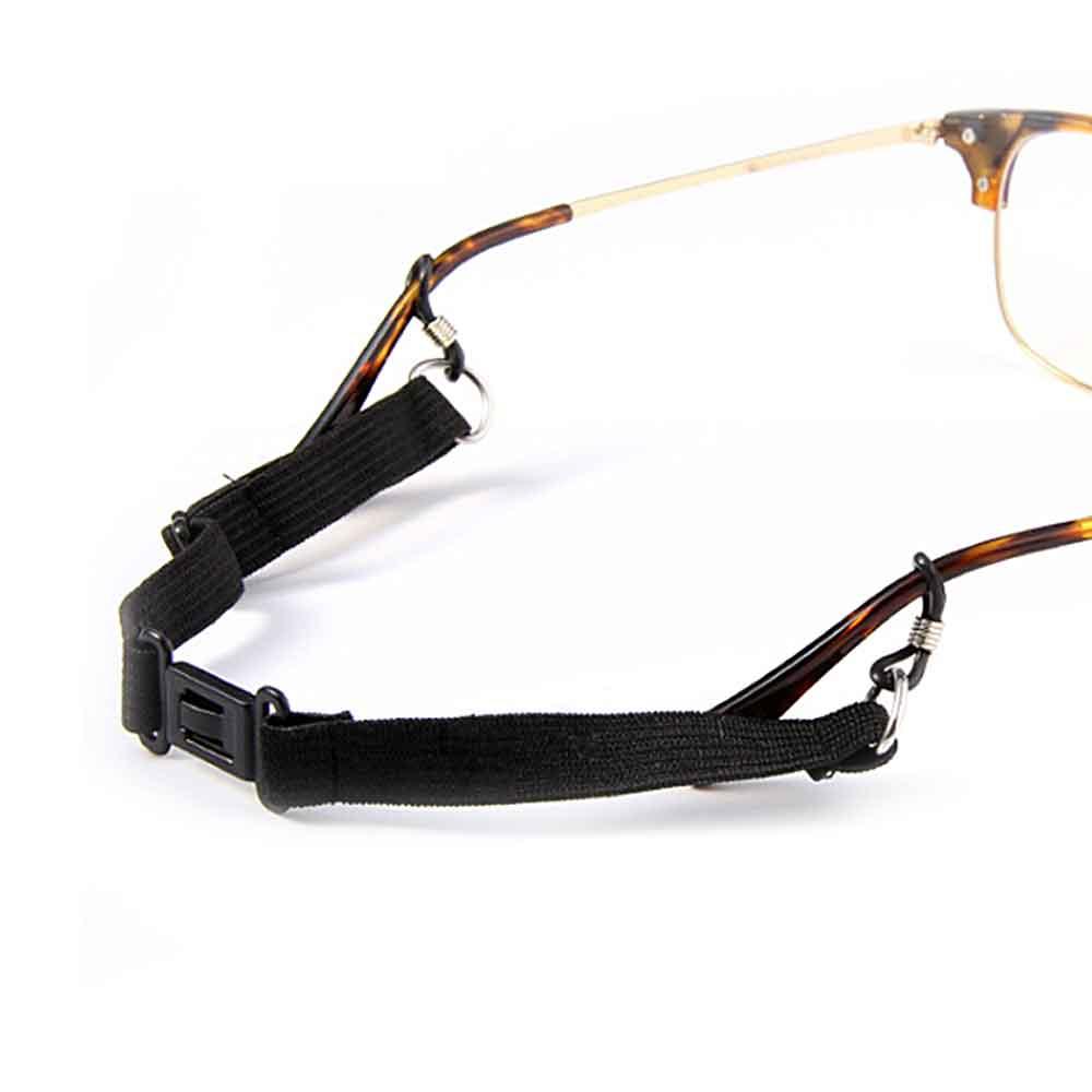 (2入) 可調大小(鬆緊) 卡扣式眼鏡防滑帶 眼鏡防掉落繩 (成人兒童適用)