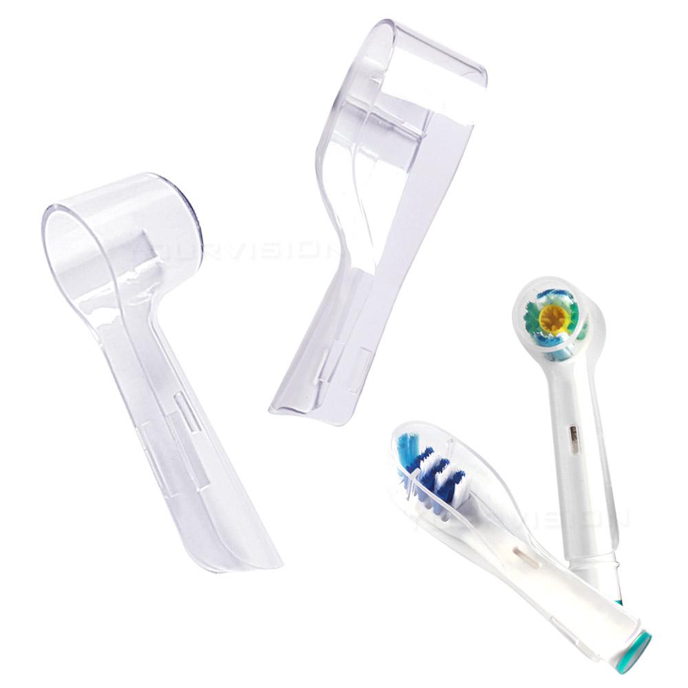 副廠 相容歐樂B 電動牙刷頭防塵蓋 保護蓋 刷頭蓋 (圓形)3入+(長形)3入