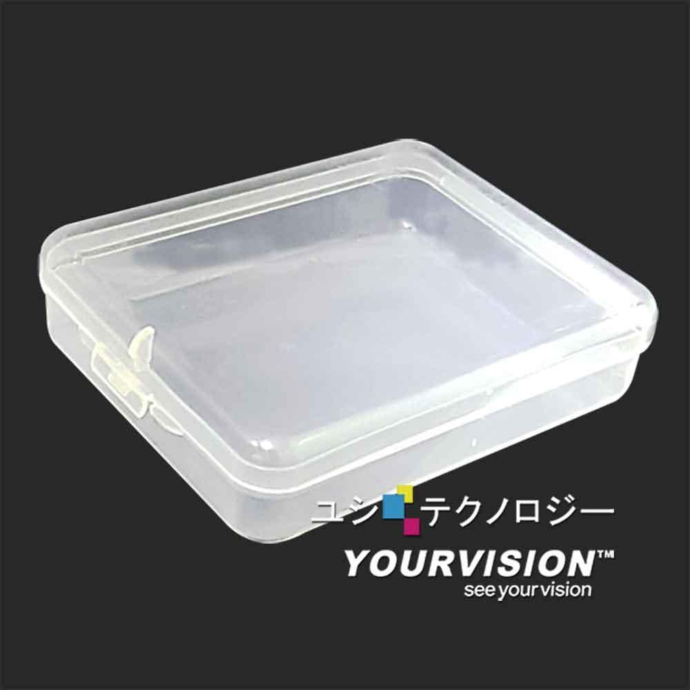 (3入)(小)透明加扣防塵口罩盒 口罩收納 文具 多功能收納盒 粉撲盒 五金零件收納