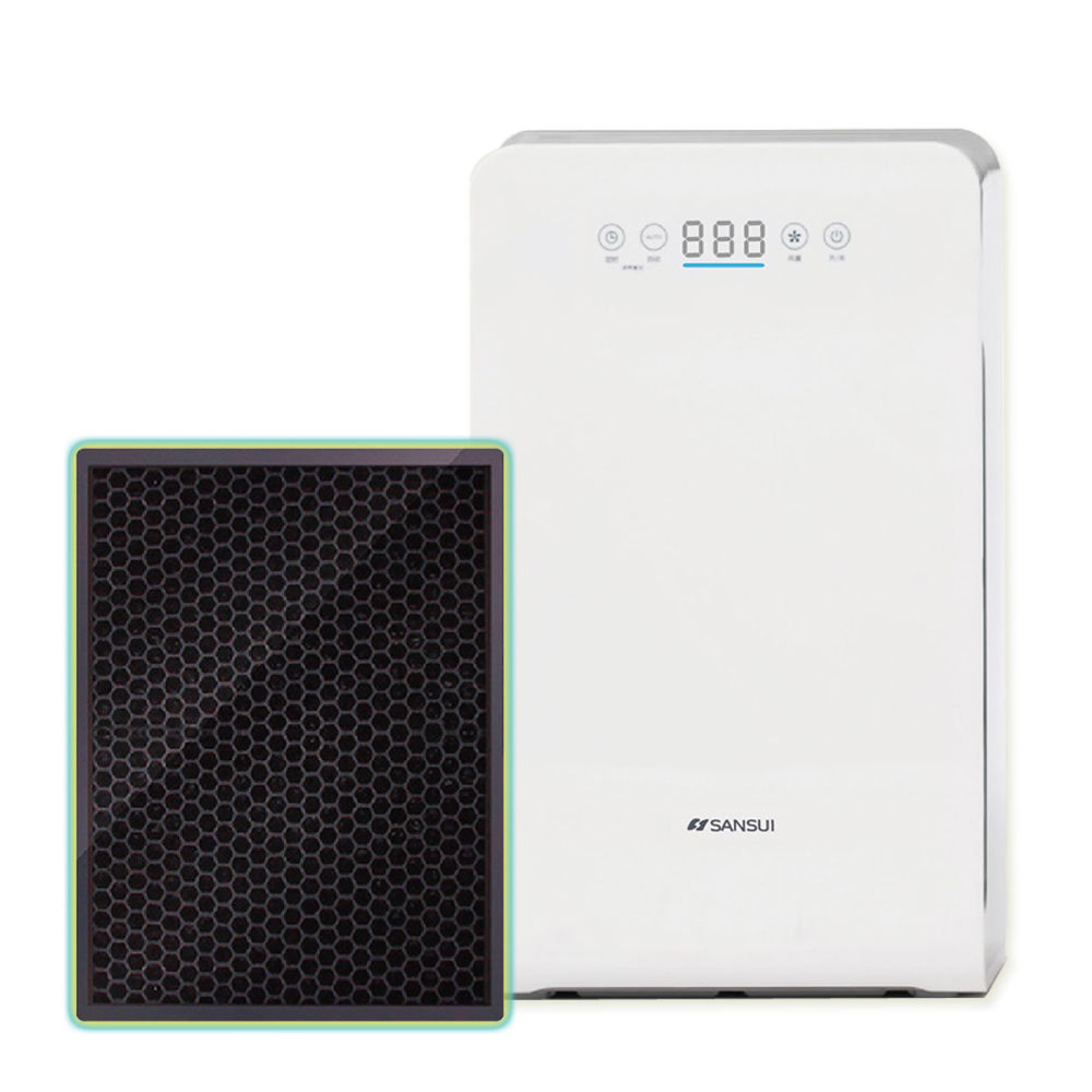 【SANSUI 山水】空氣清淨機 四重過濾/銀離子/HEPA/活性碳/負離子---濾網(SAP-2258型號專用)