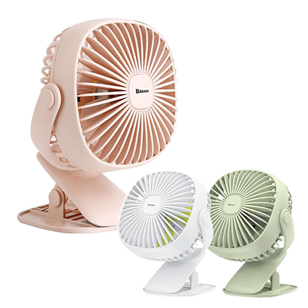 Baseus倍思 方盒夜燈/360度旋轉/可夾式風扇