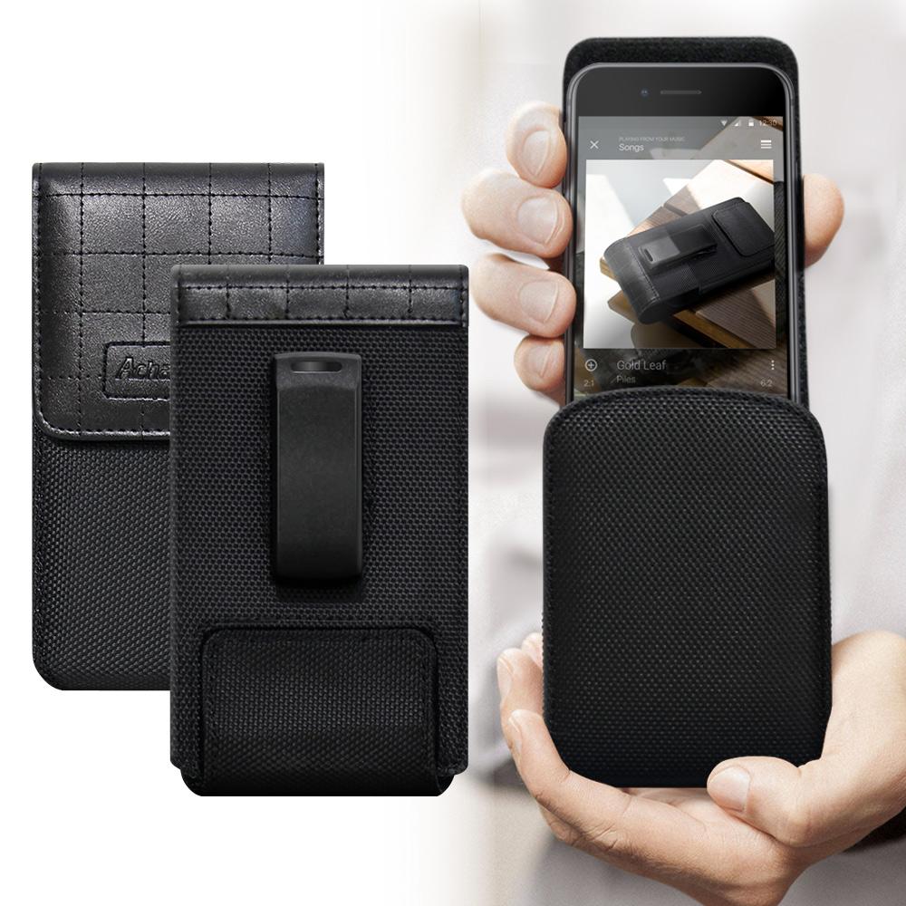 二代Pro Achamber for OPPO AX5/Nokia 5.1 Plus /SONY XZ3 簡約直立旋轉腰夾皮套