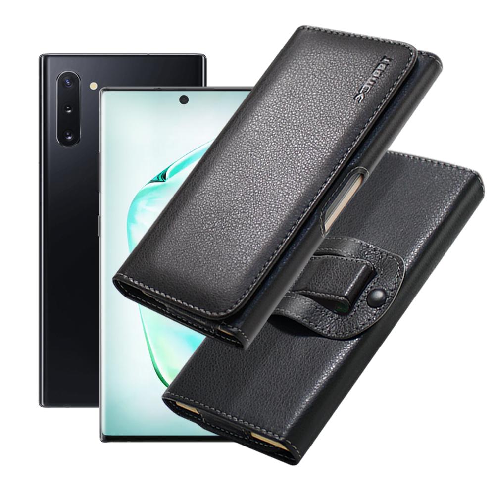 Xmart for 三星 Samsung Galaxy Note10 紳士薄型橫式腰掛皮套