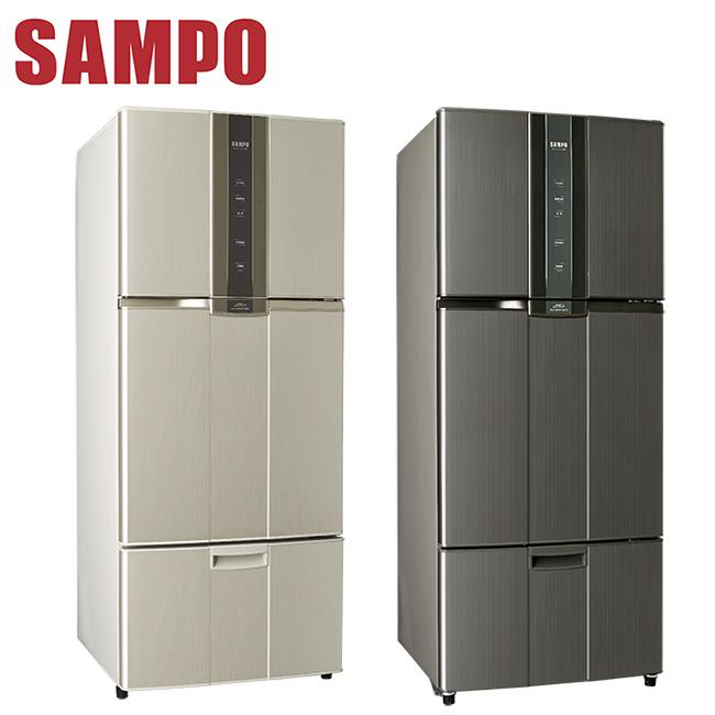 符合節能補助2000元 SAMPO聲寶 580公升一級變頻三門冰箱(SR-N58DV(Y2/K1))送安裝+多功能料理鍋