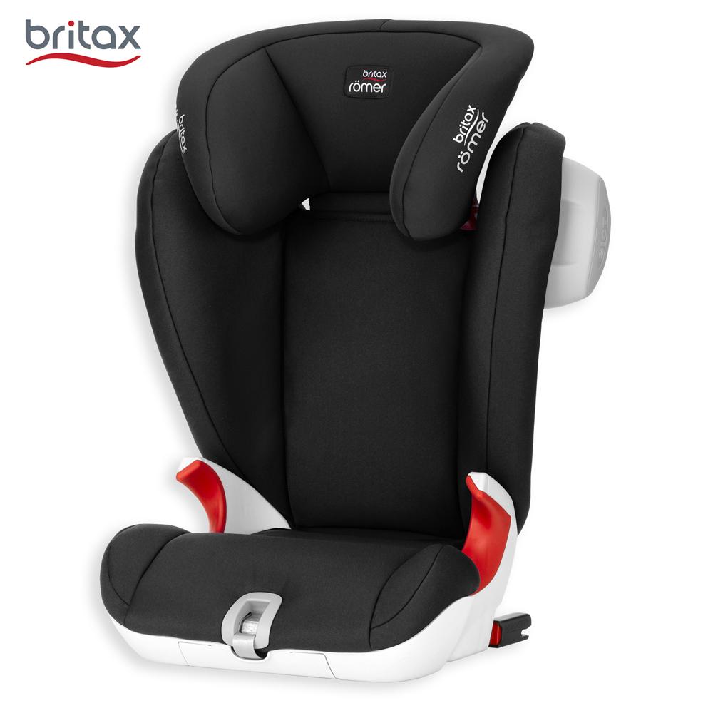 英国 Britax 4-12岁通用成长型汽车安全座椅 (黑)