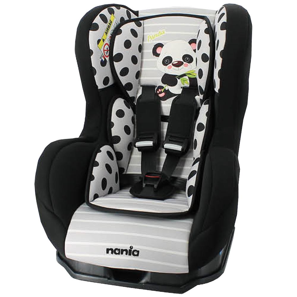 法国 Nania 纳尼亚 0-4岁安全汽座 卡通动物系列(熊猫黑)
