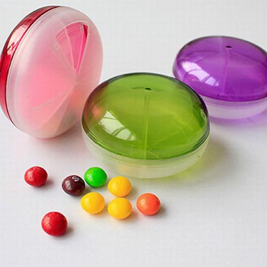 【isfun】图片飞碟*透明旋转糖果/红+随机色汽车模型药盒玩具图片