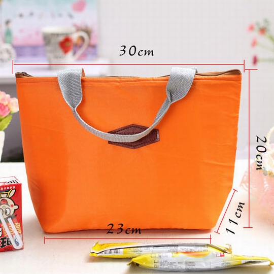 【iSFun】主婦購物*時尚保溫保鮮袋/橘