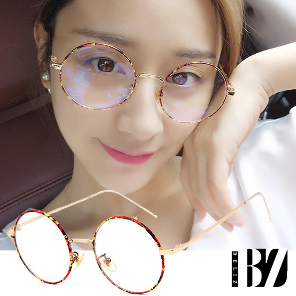 【BeLiz】花语呢喃*文青圆框金属平光眼镜