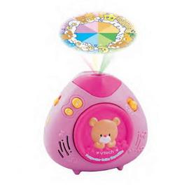 【Vtech】粉紅寶貝熊床邊音樂投射機