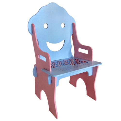 kikimmy 可爱微笑木制学习椅图片