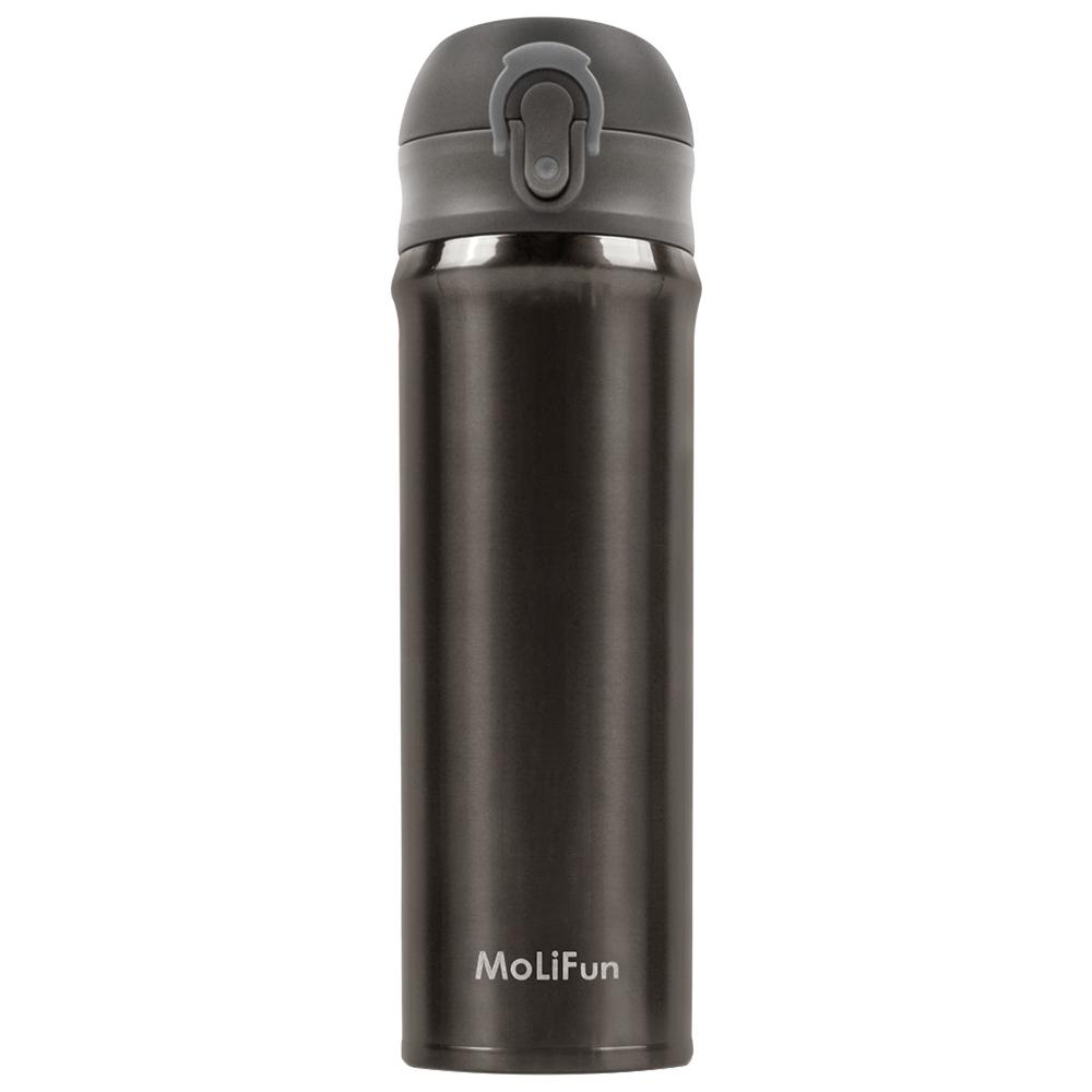 MoliFun魔力坊 316旋壓式輕量真空彈蓋杯保冰保溫杯500ml~銀河灰 MF0500