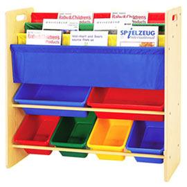 寶貝家 兒童書報玩具收納架(2大桶4中桶)