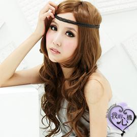 【我的心機】辛甜MIX夢幻奶茶褐波浪長假髮BC0367