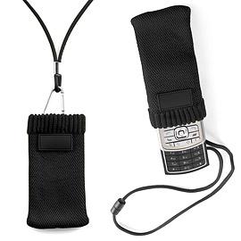 《VOYAGER》掛繩式手機袋(黑)